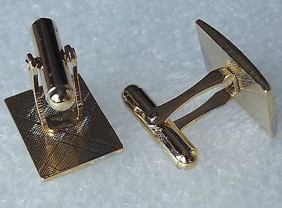 Mens cufflinks Silvertone and goldtone Patterned Curved